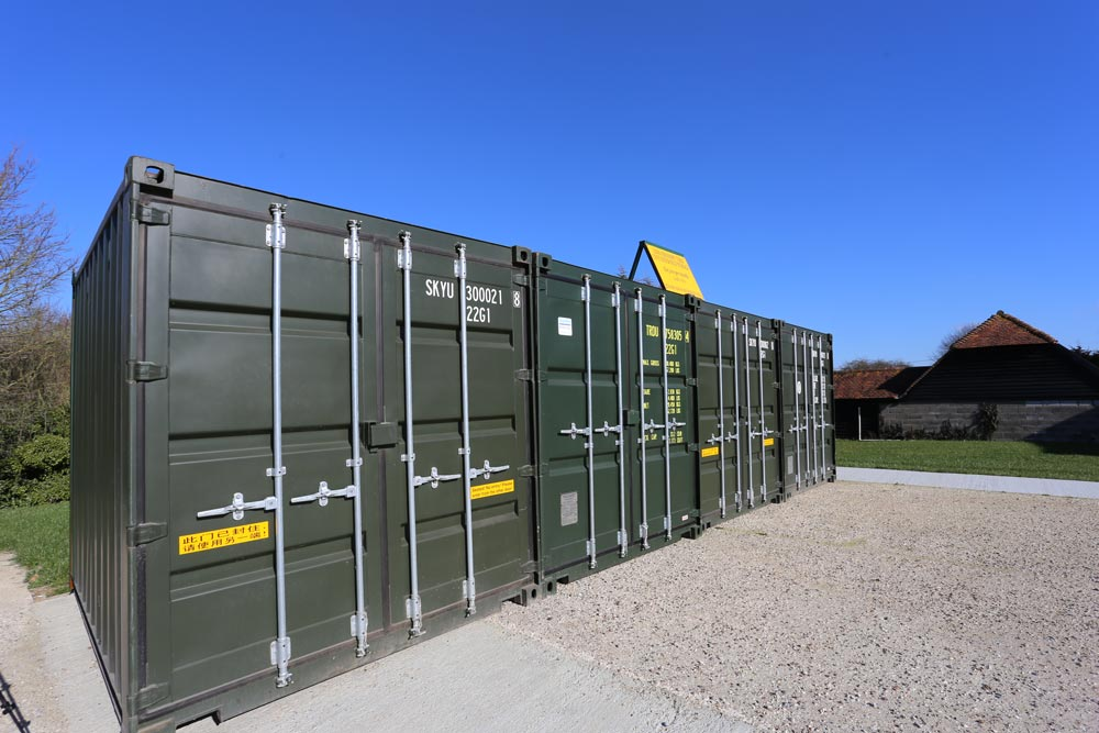 Self Storage Containers at Pete's Airgun Farm in Essex