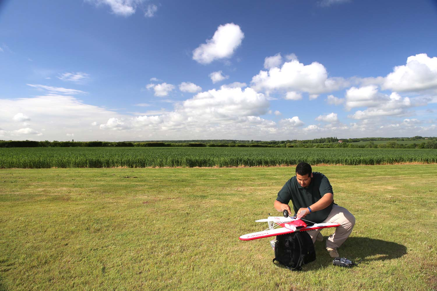 Model Aircraft Flying at Pete's Airgun Farm in Essex