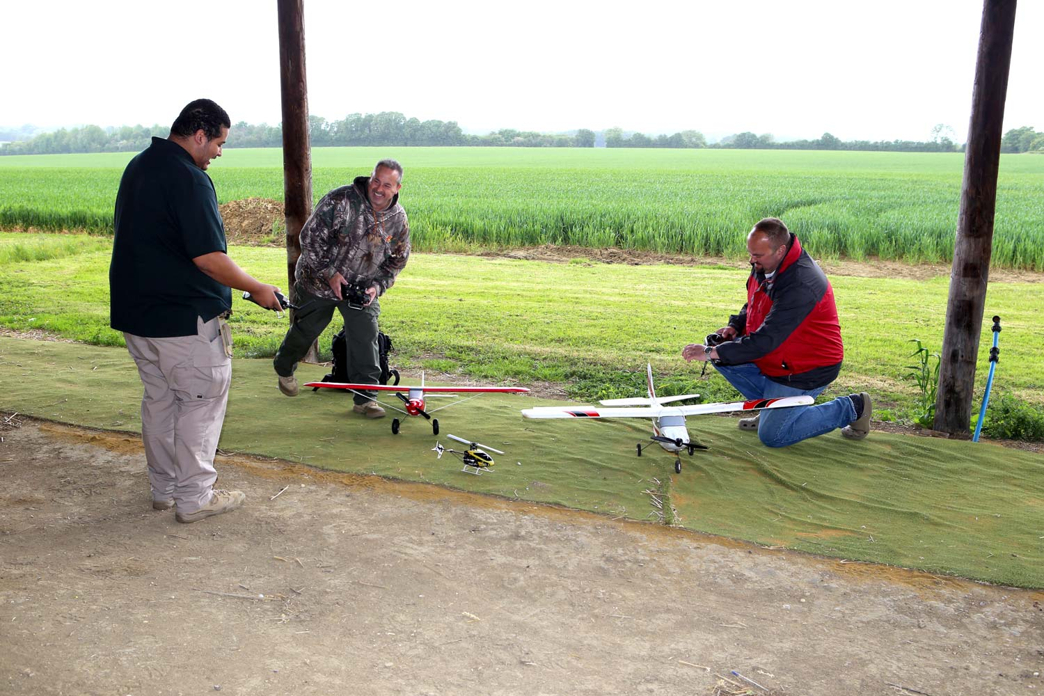 TModel Aircraft Flying at Pete's Airgun Farm in Essex