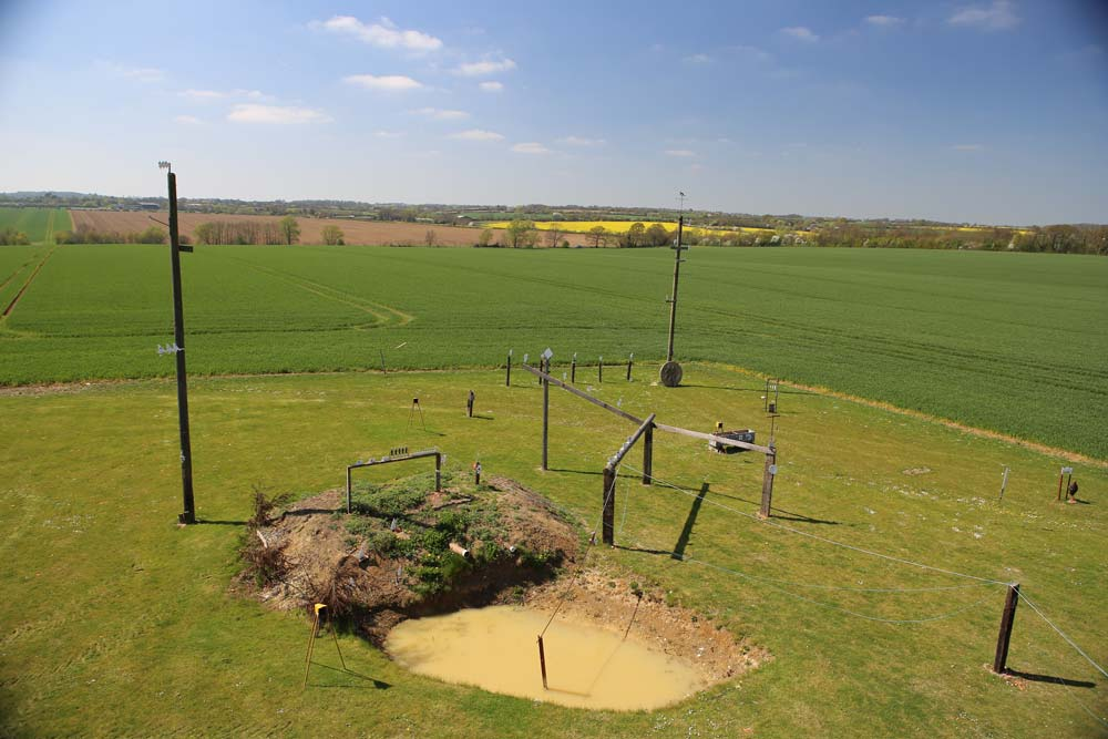 The outdoor shooting range at Pete's Airgun Farm in Essex