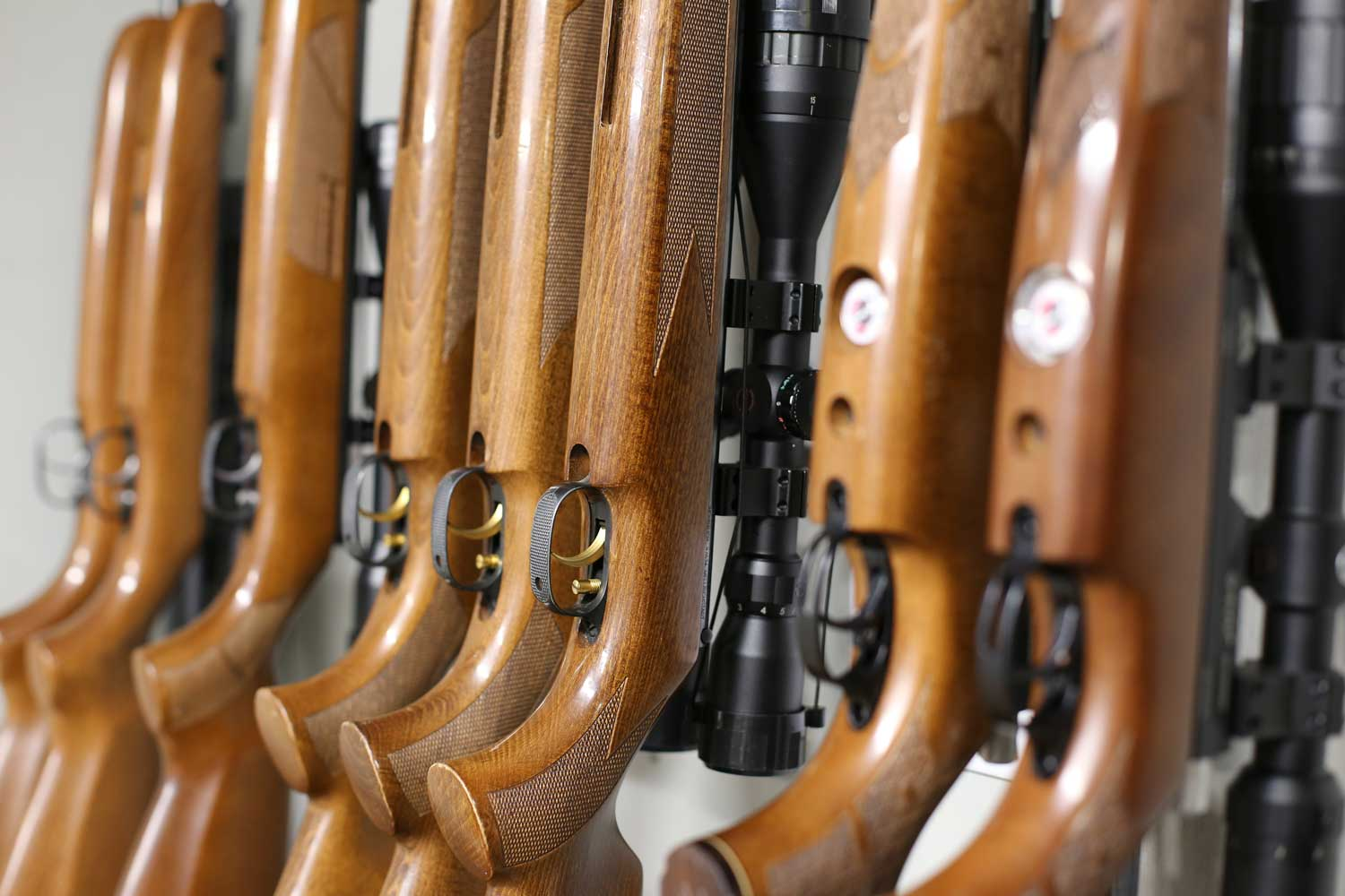 A range of rifles for hire