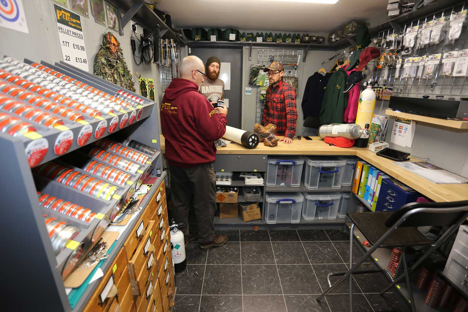 The Gun Shop at Pete's Airgun Farm in Essex